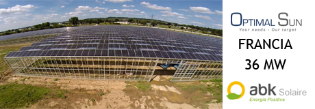 Optimal Sun and abk Solaire align to develop electrical installation work in France in 16 photovoltaic greenhouses, totaling 36 MW of installed capacity