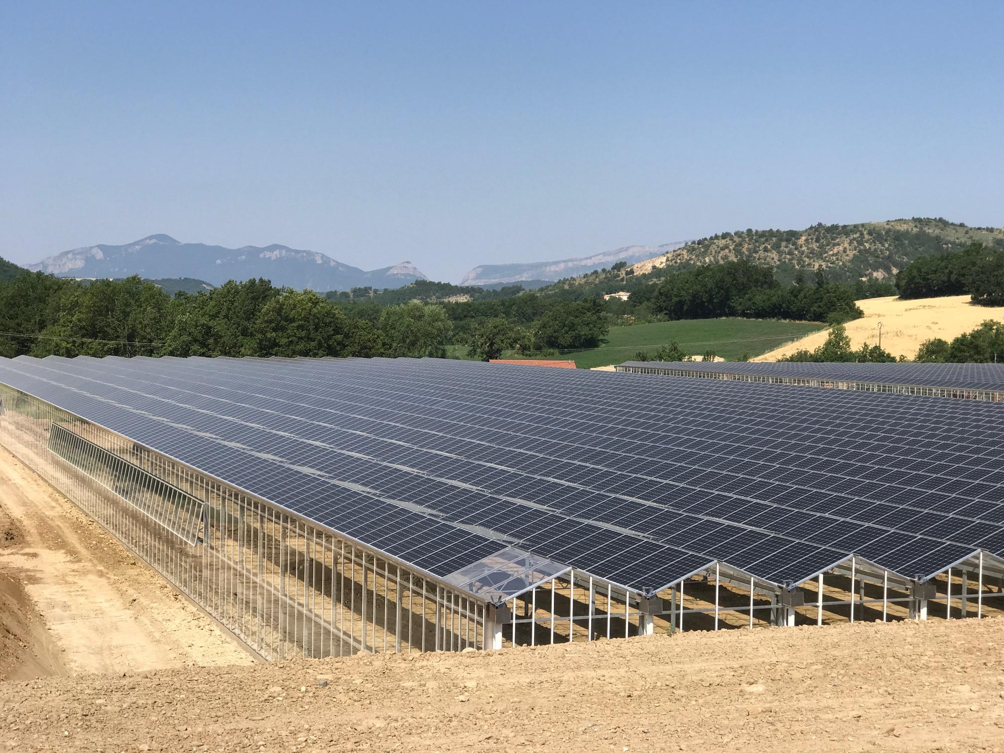 Invernaderos fotovoltaicos en Francia